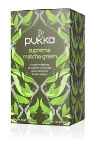 Mon ChéRi Pukka Bio Herbal Intercalaires-suprême Matcha Green (4 Pack X 20 Sachets)-afficher Le Titre D'origine MatéRiaux De Haute Qualité