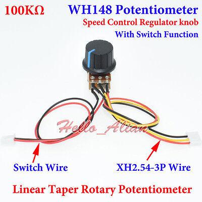 5PCS B10K ohm 3 Terminal B Art Linear Taper Rotary Potentiometer Panel AIP