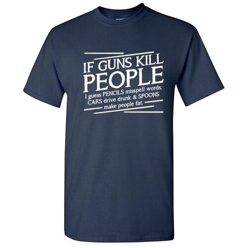 Guns Pencils Sarcastic Cool Gun Rude Graphic 2nd Amendment Humor Funny TShirt