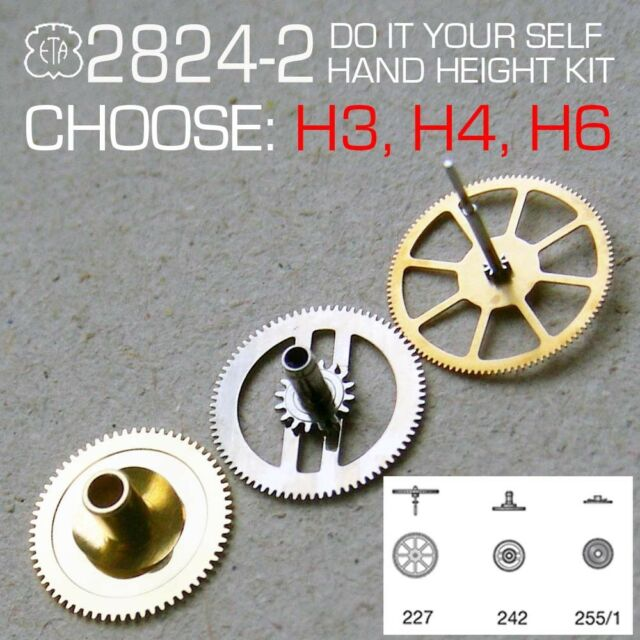 HAND HEIGHT KIT FOR MOVEMENT ETA 2824-2: H3, H4, H6: FOR CHANGE IT YOURSELF
