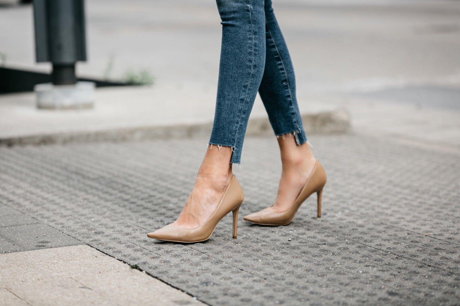 Sam Edelman Hazel nude  leather heels size 7.5  nude narrow new 79b5f1
