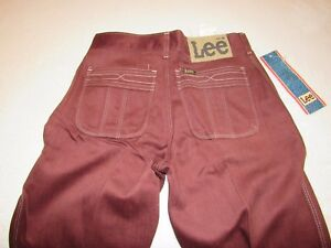 51e31b5f NWT VINTAGE JUNIORS LEE STRAIGHT LEG PANTS SIZE 26W 30L TALON 42 ...