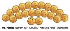"LINCOLN PRESIDENCY 2009 UNCIRCULATED 24KT GOLD BICENTENNIAL PENNIES ""20 COIN LOT"