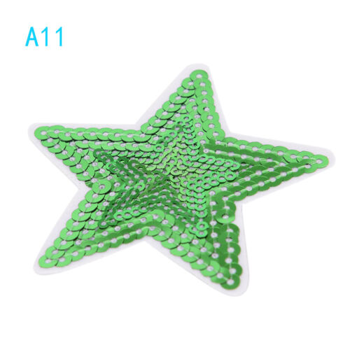 Star pentagram Sequins Embroidery Iron sew on patch applique DIY clothing 7.5 LP