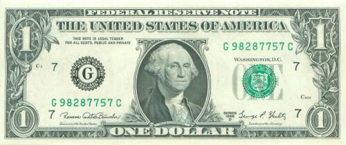 $1 Federal Reserve Note One Dollar Bill 1969 series D G//C CHICAGO