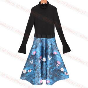 New-Ted-Baker-KALINAA-Wonderland-Knitted-Bodice-Dress-Black