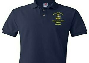 NAVAL AIR STATION ALBANY  GEORGIA EMBROIDERED POLO SHIRT/SWEAT/JACKET.
