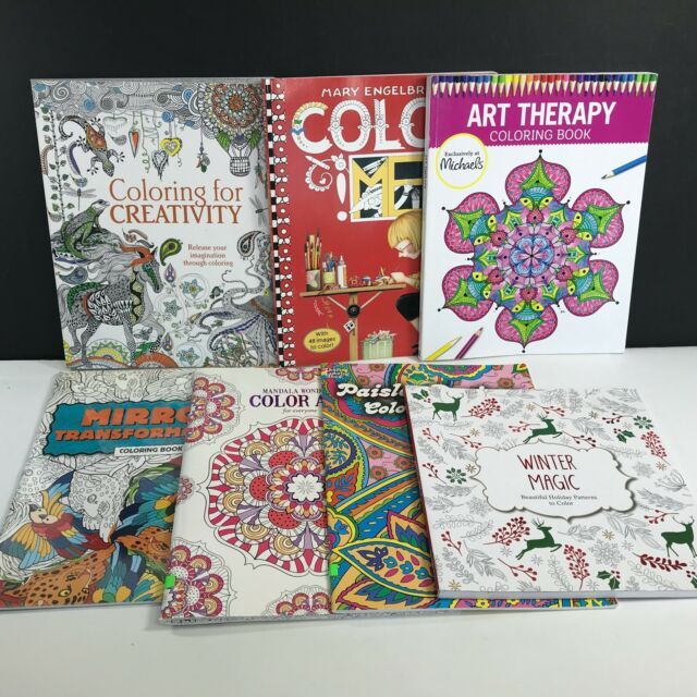 - Floral Grown Up Coloring Book Adult Art Crayon Colored Pencil Reduce Stress  For Sale Online EBay