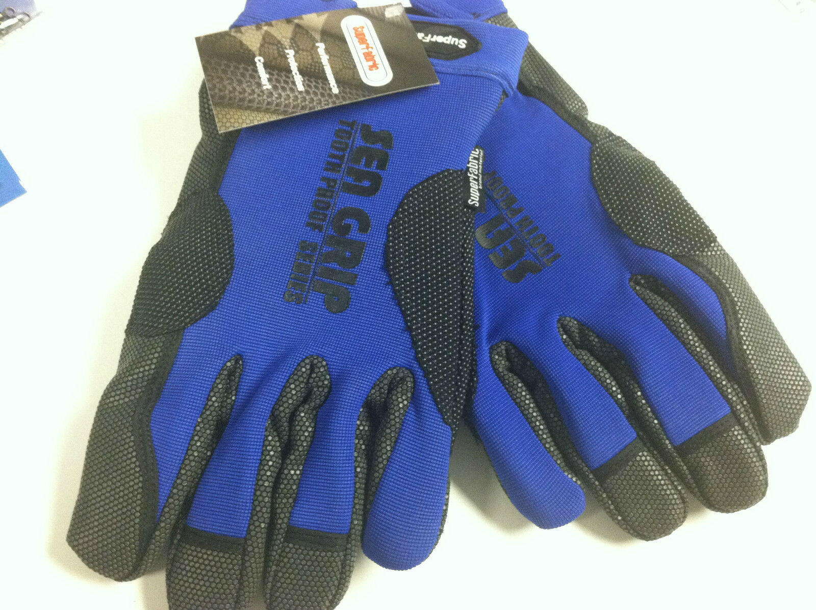 AFW SEA GRIP SUPER FABRIC OFFSHORE GLOVES - blu - ULTIMATE PROTECTION