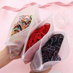 Pack-of-100-Women-Elastic-Hair-Ties-Band-Ropes-Ring-Hairband-Ponytail-Holder-AU