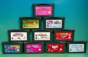 10 girl games nintendo game boy advance barbie bratz lizzie polly
