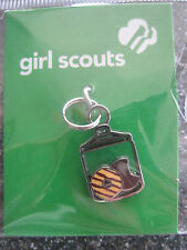 Girl Scout COOKIE JAR CHARM Silver toned Jewelry Cookie Sale Gift Multiple=$ NEW