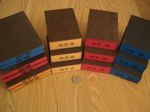 6 schleifmatten pads grain 60 100 180! 15 pièces Maxi set 9 schleifschwämme