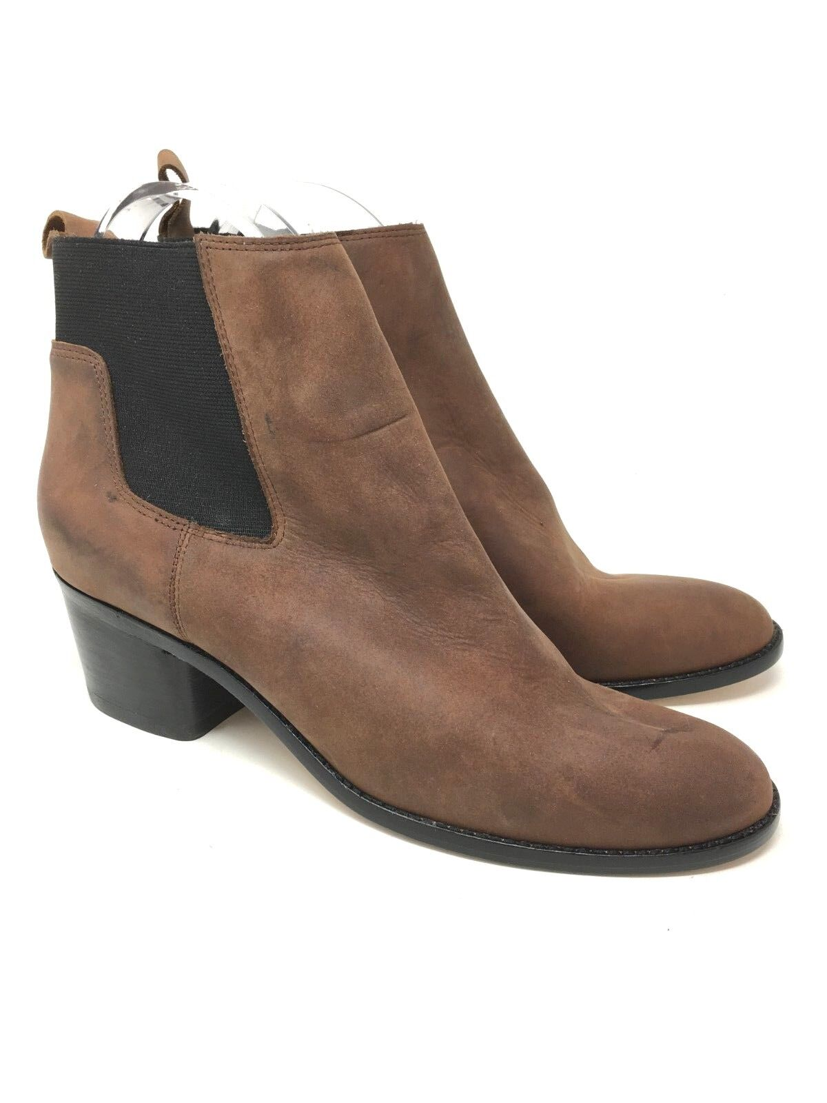 New Matt Berson Baez Brown Short Ankle Leather    Booties  Size 8.5 533753
