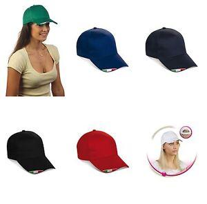 Caricamento dell immagine in corso CAPPELLINO-con-visiera-cappello-con -ricamo-bandiera-italia- c960c9cf4155