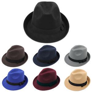 bb0d5bc9 Men Women Kids Children Boys Fedora Hats Trilby Caps Jazz Panama ...