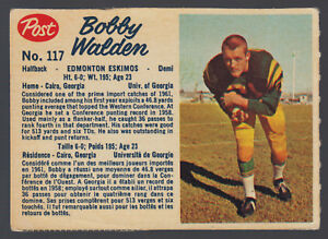 1962-POST-CFL-FOOTBALL-117-BOBBY-WALDEN-EX-EDMONTON-ESKIMOS-UNIV-OF-GEORGIA