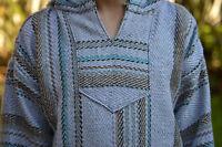 Baja Hoodie Solid Cool Grey Pullover Drug Rug Mexican Sweatshirt S M L Xl 2x 3x