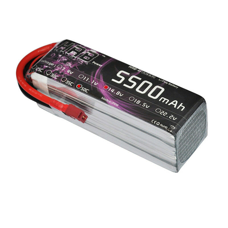 HRB 14.8V 5500mah 4S RC LiPo Battery 50C 100C for Drone Helicopter Airplane FPV