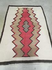 LARGE ANTIQUE VINTAGE NAVAJO GANADO INDIAN RUG -  c1920s - 48.5 x69.5 - NICE !
