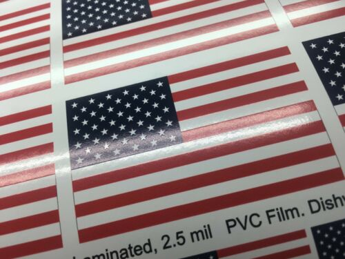 Various Sizes 22 American Flag Decal Stickers Laminated for Durability