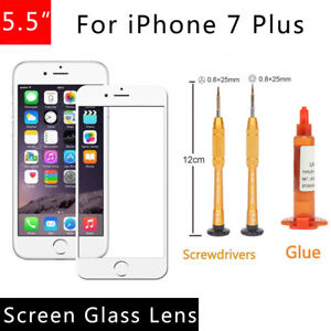 For-iPhone-7-Plus-5-5-Front-Outer-Screen-Glass-Lens-Replacement-REPAIR-KIT-White