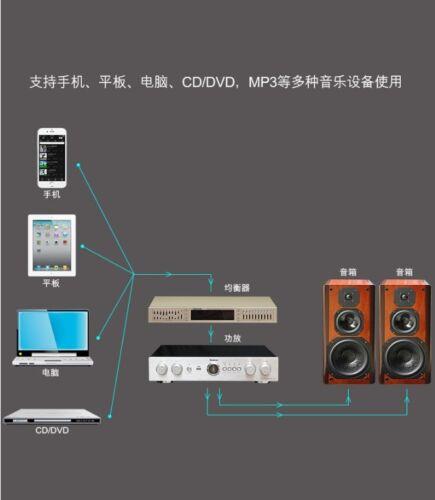 220V Hifi Home EQ Equalizzatore Dual 10 BAND Stereo Treble Alto Bass Regolazione con Bluetooth Integrato EQ665 Equalizzatore Stereo Oro