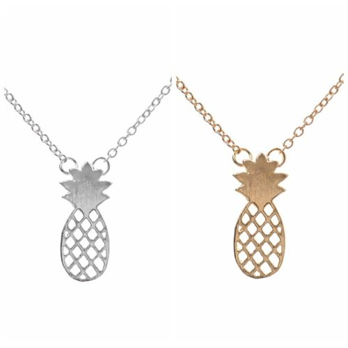 Women Fashion Cute Hollow Pineapple Pendant Party Gift Fruit Necklace Jewelry