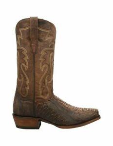 """Dan Post """"Nick"""" Caiman/Ostrich Western Boots -Sand DP3072 9.5 EW"""