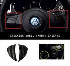 VW Volkswagen MK6 Carbon Decal Steering Wheel Cover Trim Inserts Golf Polo Bora