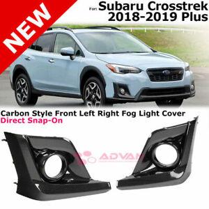 For-18-19-Subaru-Crosstrek-Carbon-Style-Foglight-Fog-Lamp-Cover-Left-Right-Side