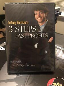 Anthony-MORRISON-3-passaggi-per-veloci-profitti-DVD-2009-sigillato-in-fabbrica