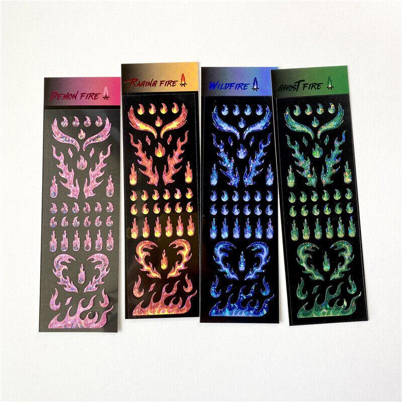 1 Piezas Pegatina de llama coreano INS Arco Iris láser Hágalo usted mismo Scrapbooking Idol tarjeta albhf