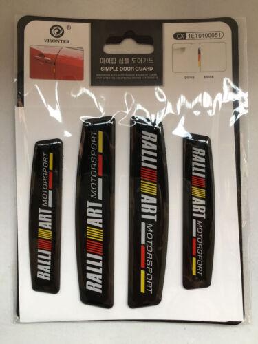 4X RALLIART Door Edge Guard Sticker Fender Protect Guard Anti Scratch Emblem