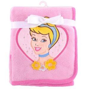 NWT-Girls-Disney-Princess-Plush-Pink-Coral-Baby-Blanket-30-034-x-45-034-100-Polyester