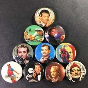 Bill-Murray-1-034-Button-Pin-Set-Comedy-Ghostbusters-Kingpin-Caddyshack-Groundhog
