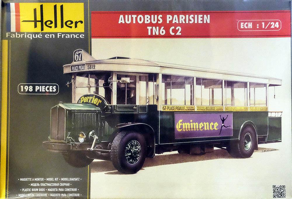 Renault TN6 C2 Autobus Parisien Bus Paris 1 24 Modelo Conjunto Kit Heller 80789
