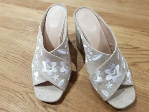M-amp-S-Brand-New-Neutral-Hessian-Sandals-Size-6-5-Eur-40