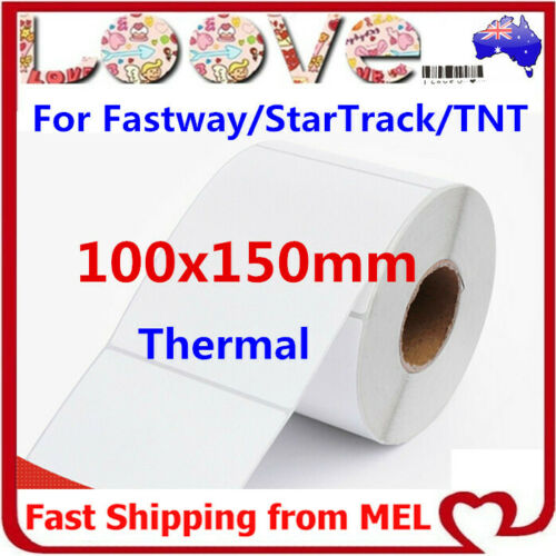 Thermal Direct Labels Roll 100 X 150mm 4x6 Fastway EParcel Startrack Auspost TNT