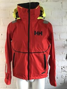 Helly-Hansen-Mens-HP-Foil-Jacket-Alert-Red-Small-Waterproof-Sailing-Boat-Outdoor