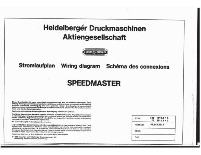 Heidelberg Speed Master 72