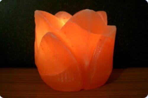 """Tischkerze  /""""Rosenform/""""  von Biova Teelicht Salzkristall Teelichthalter"""