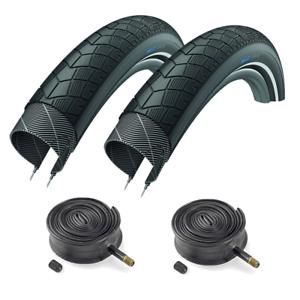 Pair-of-26-x-2-00-XLC-Big-X-Slick-Mountain-Bike-Tyres-amp-Inner-Tubes