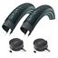Pair-of-26-x-2-00-XLC-Big-X-Slick-Mountain-Bike-Tyres-amp-Inner-Tubes miniature 1