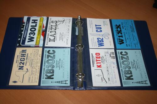 QSL Card Holder Organizer Plastic Sleeves Organizer 100 ct