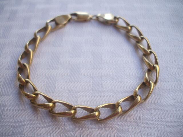 "Heavy Gauge 14k 14 Karat Yellow GOLD Chain Link BRACELET 8 3/8"" x 6mm, 25 grams"