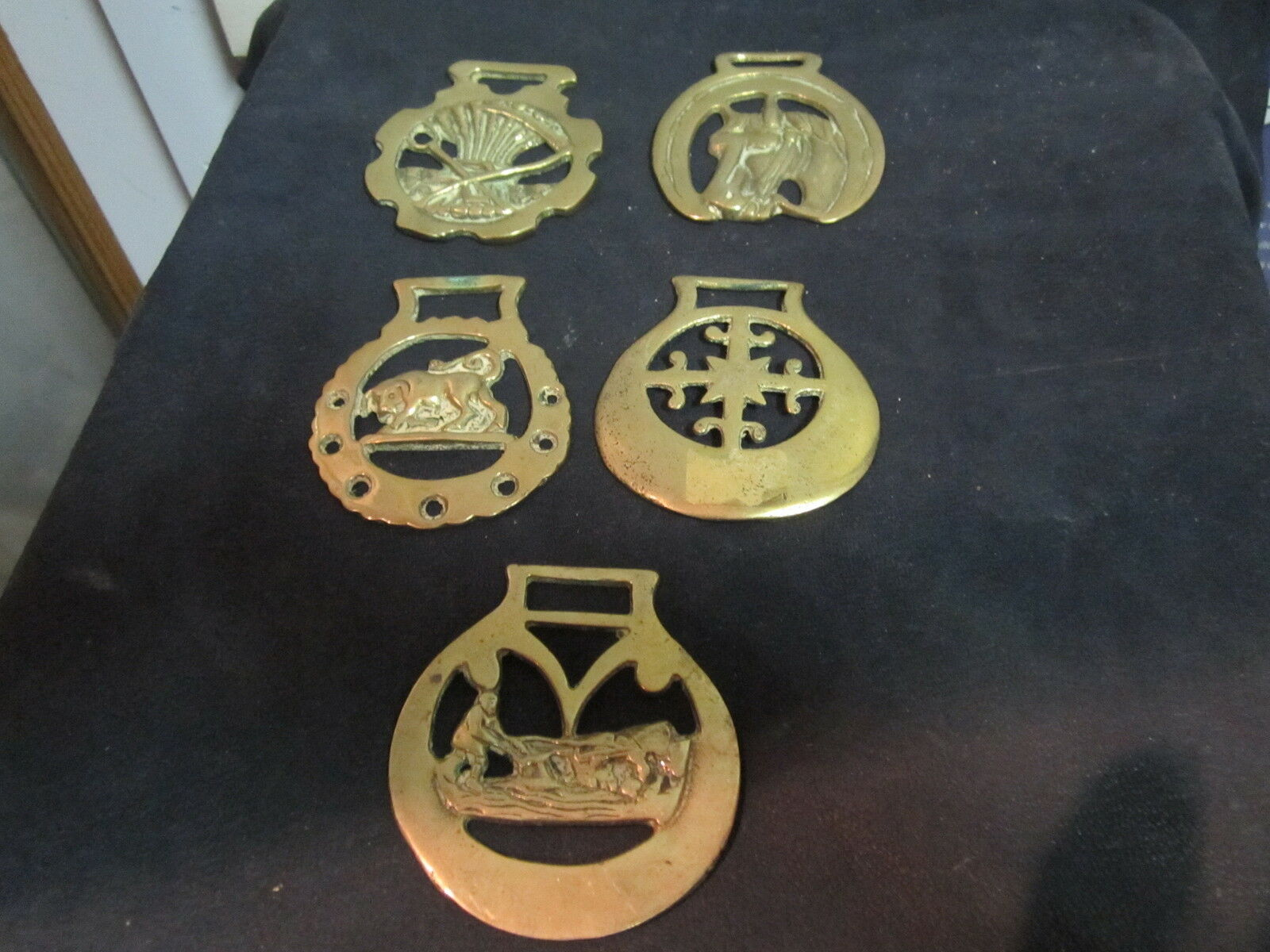 Saddle buckles 6 antique brass