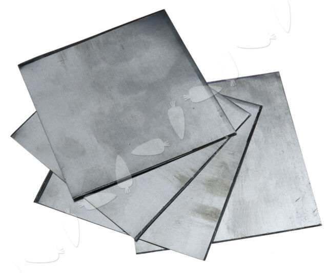 5Pcs High Purity 99.9/% Pure Zinc Sheet Plate Metal for Science Lab 140x140x0.2mm