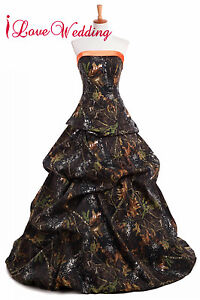 2020 Real Tree New Camo Wedding Dresses Camouflage Lace Up Bridal Gowns Custom Ebay