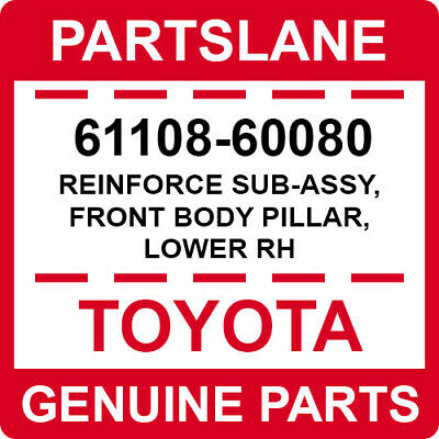 Upr Lh 6011847020 Front Pillar 60118-47020 Toyota Cover Sub-Assy New Genuine